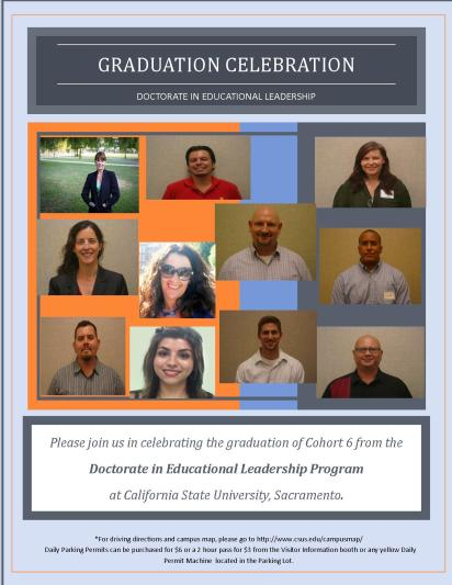 flyer for grad party cohort 6 final