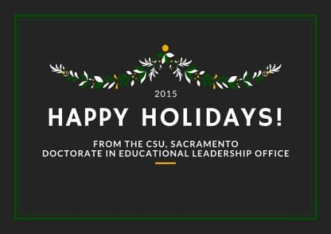 Happy Holidays 2015 from EDD Office