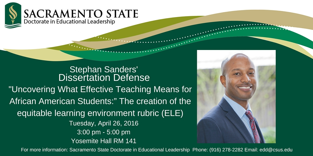Doctoral dissertation educational leadership