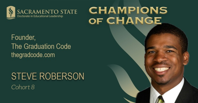 Doctoral student Steve Roberson makes college degrees his mission