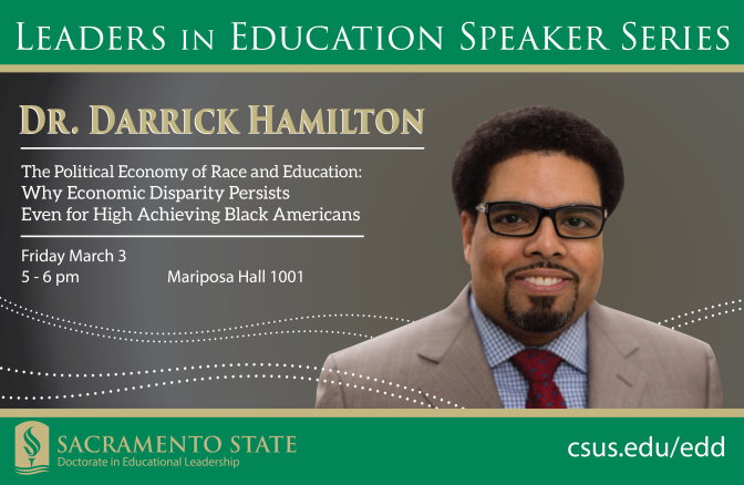 Equity expert Darrick Hamilton to speak March 3