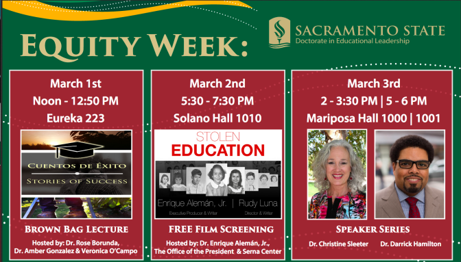 Free events for Equity Week March 1-3